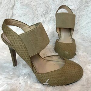 Classiques Entier Nude Round Toe Ankle Strap Heels